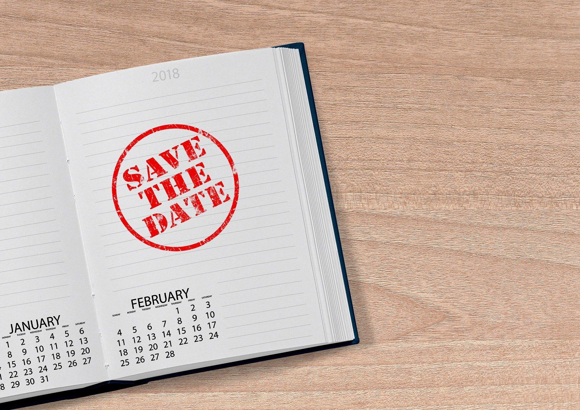 Kalender mit der Eintragung Save the Date